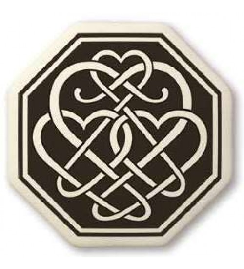 Celtic Heart Octagon Porcelain Necklace at All Wicca Store Magickal Supplies, Wiccan Supplies, Wicca Books, Pagan Jewelry, Altar Statues