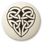 Celtic Heart Round Porcelain Necklace