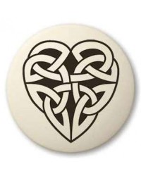 Celtic Heart Round Porcelain Necklace All Wicca Store Magickal Supplies Wiccan Supplies, Wicca Books, Pagan Jewelry, Altar Statues