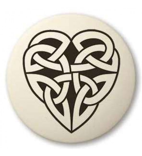 Celtic Heart Round Porcelain Necklace at All Wicca Store Magickal Supplies, Wiccan Supplies, Wicca Books, Pagan Jewelry, Altar Statues