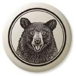 Black Bear Portait Animal Totem Porcelain Necklace
