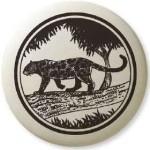 Black Panther Pathfinder Animal Totem Porcelain Necklace