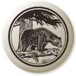 Black Bear Pathfinder Animal Totem Porcelain Necklace