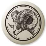 Big Horn Sheep Pathfinder Animal Totem Porcelain Necklace