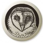 Barn Owl Pathfinder Animal Totem Porcelain Necklace