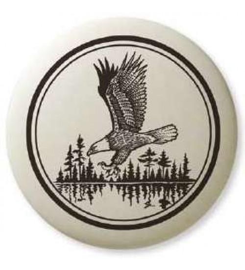 Bald Eagle Soaring Pathfinder Totem Porcelain Necklace