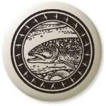 Brook Trout Pathfinder Animal Totem Porcelain Necklace