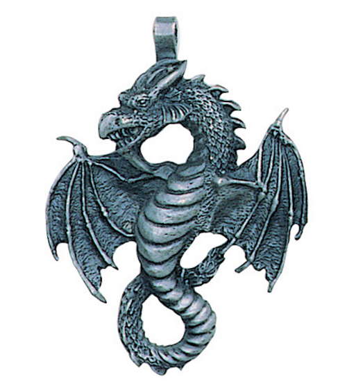 Air Dragon Pewter Necklace at All Wicca Store Magickal Supplies, Wiccan Supplies, Wicca Books, Pagan Jewelry, Altar Statues