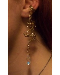 Bronze Dragon Ear Cuff with Crystal All Wicca Magickal Supplies Wiccan Supplies, Wicca Books, Pagan Jewelry, Altar Statues