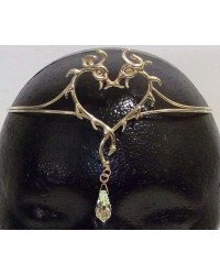 Double Dragon Bronze Circlet with Crystal Drop All Wicca Store Magickal Supplies Wiccan Supplies, Wicca Books, Pagan Jewelry, Altar Statues