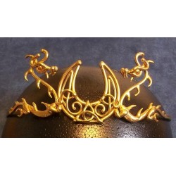 Dragon Moon Bronze Draconian Wiccan Circlet All Wicca Wiccan Altar Supplies, All Wicca Books, Pagan Jewelry, Wiccan Statues