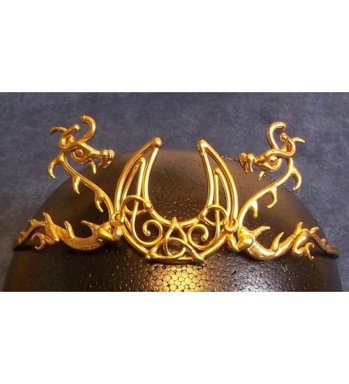 Dragon Moon Bronze Draconian Wiccan Circlet at All Wicca Store Magickal Supplies, Wiccan Supplies, Wicca Books, Pagan Jewelry, Altar Statues