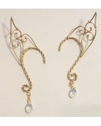 Elf Ear Bronze Ear Wrap with Crystal All Wicca Store Magickal Supplies Wiccan Supplies, Wicca Books, Pagan Jewelry, Altar Statues