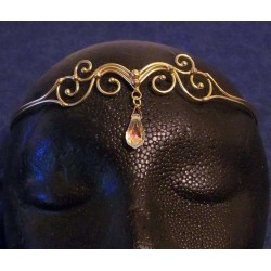 Swirl Bronze Circlet with Crystal Drop All Wicca Wiccan Altar Supplies, All Wicca Books, Pagan Jewelry, Wiccan Statues
