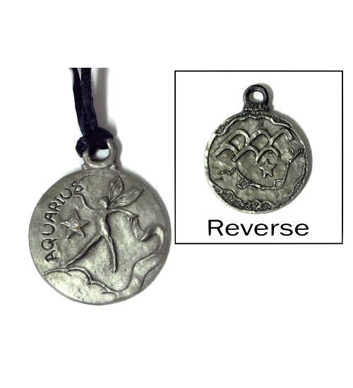 Aquarius Zodiac Pewter Necklace at All Wicca Store Magickal Supplies, Wiccan Supplies, Wicca Books, Pagan Jewelry, Altar Statues