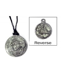 Pisces Zodiac Pewter Necklace All Wicca Store Magickal Supplies Wiccan Supplies, Wicca Books, Pagan Jewelry, Altar Statues