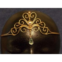Heart Crystal Bronze Hand Made Tiara All Wicca Wiccan Altar Supplies, Books, Jewelry, Statues
