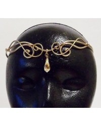 Iona Bronze Circlet with Crystal Drop All Wicca Store Magickal Supplies Wiccan Supplies, Wicca Books, Pagan Jewelry, Altar Statues