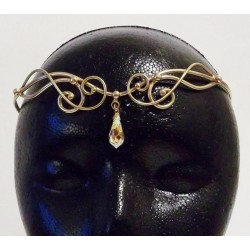 Iona Bronze Circlet with Crystal Drop All Wicca Wiccan Altar Supplies, Books, Jewelry, Statues