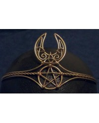 Celtic Moon Triquetra Pentacle Bronze Wiccan Circlet All Wicca Store Magickal Supplies Wiccan Supplies, Wicca Books, Pagan Jewelry, Altar Statues