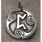 Pertho - Rune of Luck Pewter Talisman