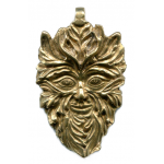 Green Man of the Woods God Pendant