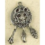 Bear Animal Spirit Pewter Necklace