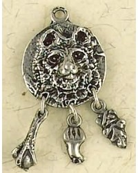 Bear Animal Spirit Pewter Necklace All Wicca Store Magickal Supplies Wiccan Supplies, Wicca Books, Pagan Jewelry, Altar Statues