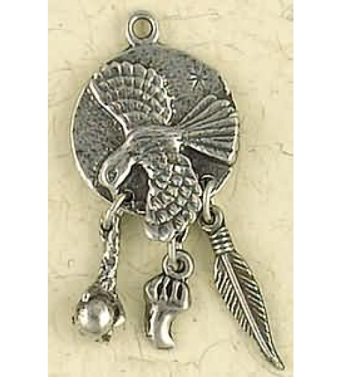 Hawk Animal Spirit Pewter Necklace at All Wicca Store Magickal Supplies, Wiccan Supplies, Wicca Books, Pagan Jewelry, Altar Statues