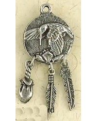 Hummingbird Animal Spirit Pewter Necklace