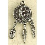 Lizard Animal Spirit Pewter Necklace