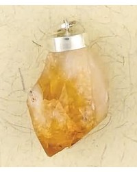 Citrine Natural Crystal Capped Necklace
