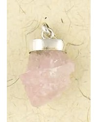 Rose Quartz Natural Crystal Capped Necklace