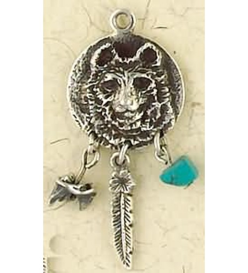 Bear Animal Spirit Sterling Slver Necklace at All Wicca Store Magickal Supplies, Wiccan Supplies, Wicca Books, Pagan Jewelry, Altar Statues