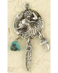 Buffalo Animal Spirit Sterling Silver Necklace