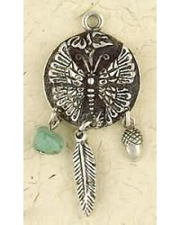 Butterfly Animal Spirit Sterling Silver Necklace