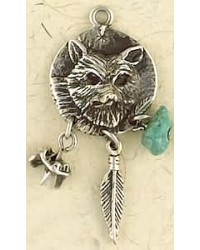 Coyote Animal Spirit Pewter Necklace