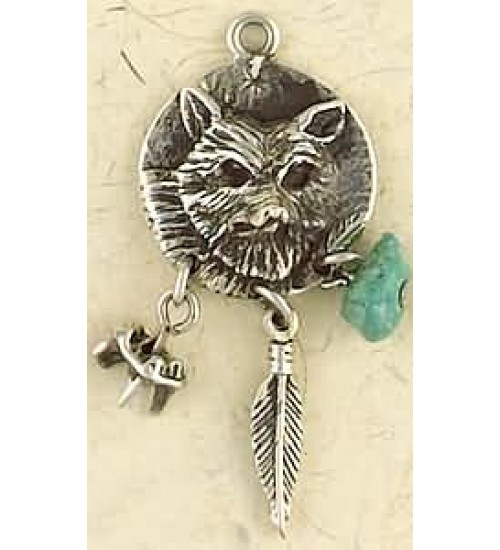Coyote Animal Spirit Pewter Necklace at All Wicca Store Magickal Supplies, Wiccan Supplies, Wicca Books, Pagan Jewelry, Altar Statues