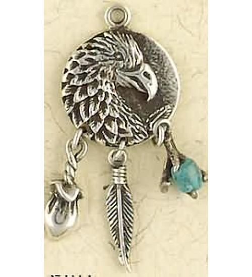 Eagle Animal Spirit Sterling Silver Necklace at All Wicca Store Magickal Supplies, Wiccan Supplies, Wicca Books, Pagan Jewelry, Altar Statues