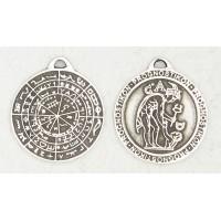Divination Disc of Pergamon Pewter Necklace