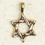 Star of David Bronze Necklace