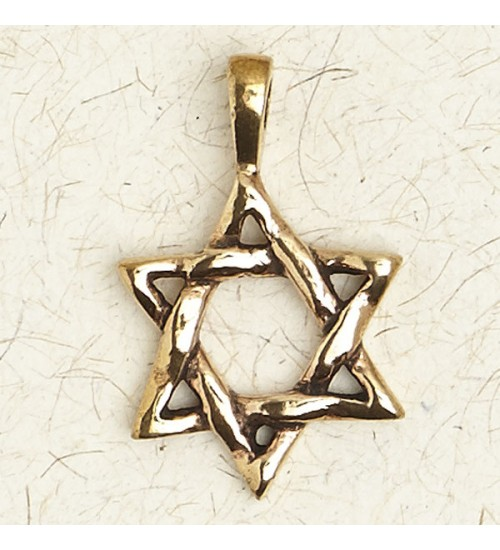Star of David Bronze Necklace at All Wicca Store Magickal Supplies, Wiccan Supplies, Wicca Books, Pagan Jewelry, Altar Statues