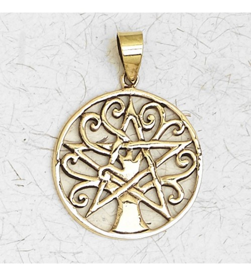 Pentacle Tree of Life Bronze Necklace at All Wicca Store Magickal Supplies, Wiccan Supplies, Wicca Books, Pagan Jewelry, Altar Statues