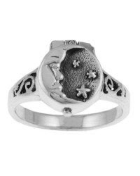 Moon and Stars Poison Ring All Wicca Store Magickal Supplies Wiccan Supplies, Wicca Books, Pagan Jewelry, Altar Statues