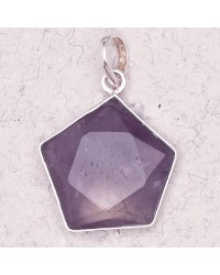 Amethyst 5 Point Prisma Star Pendant