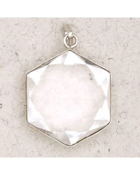 Clear Quartz 6 Point Prisma Star Pendant