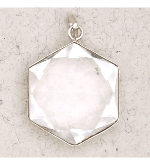Clear Quartz 6 Point Prisma Star Pendant at All Wicca Store Magickal Supplies, Wiccan Supplies, Wicca Books, Pagan Jewelry, Altar Statues