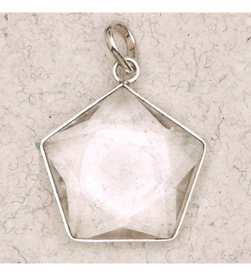 Clear Quartz 5 Point Prisma Star Pendant at All Wicca Store Magickal Supplies, Wiccan Supplies, Wicca Books, Pagan Jewelry, Altar Statues