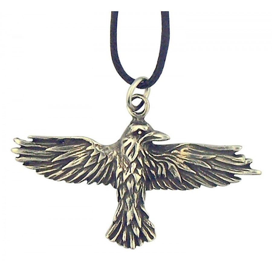 Jewelry necklaces pendants chains sterling silver jewellery pewter celtic raven pewter necklace mozeypictures Gallery