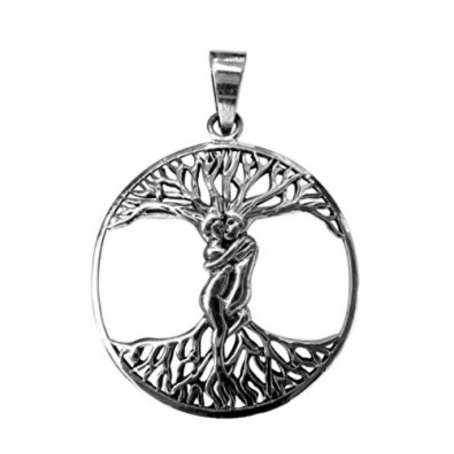 four life of thumbnail product pendant tree necklace silver seasons